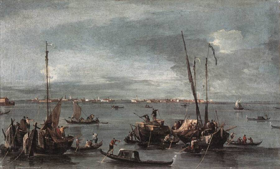 Venice Lagoon Looking Toward Murano