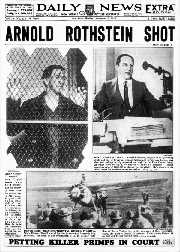 Arnold Rothstein Death Newspaper
