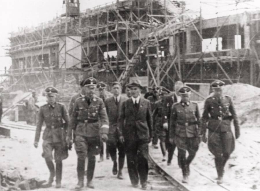 Himmler Visits IG Farben Plant At Auschwitz