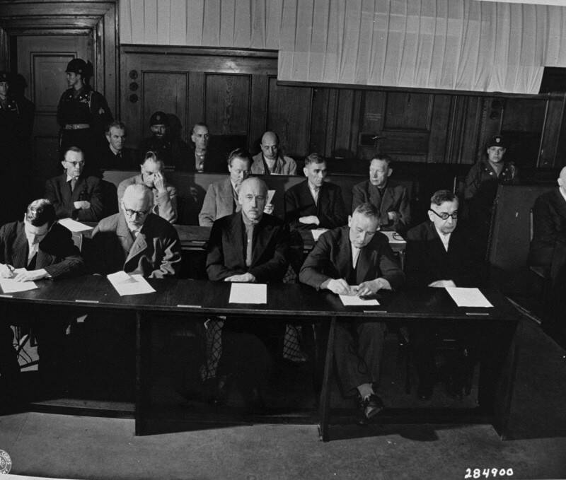 IG Farben Defendants At Nuremberg