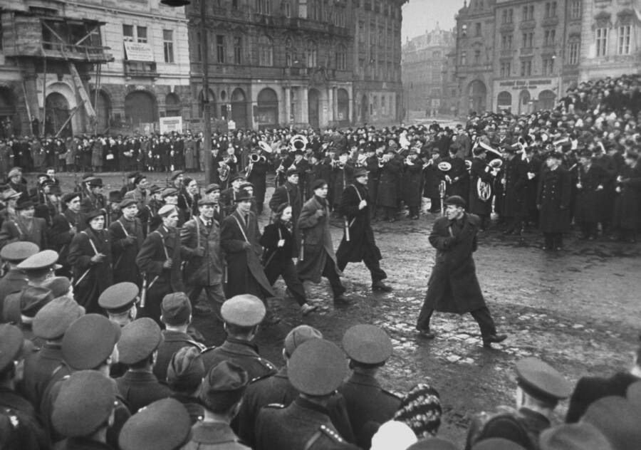 Soviet Troops March Into Czechoslovakia