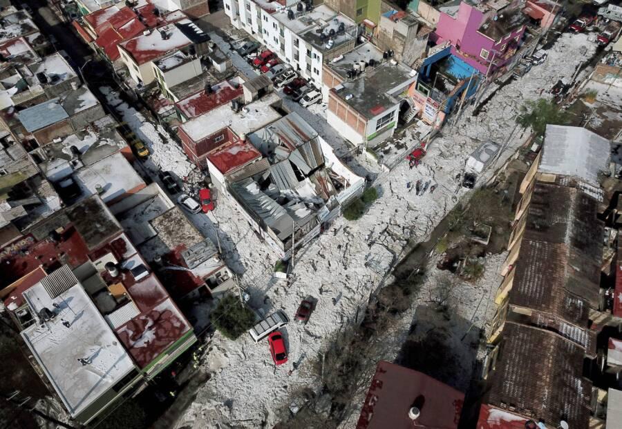 Aerial View Jalisco Hail