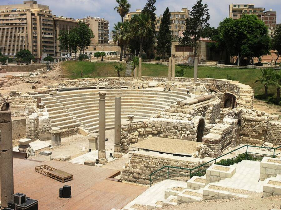 Roman Amphitheater Remains In Alexandria