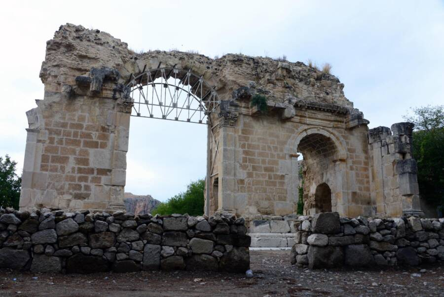 Ancient Arches In Anavarza