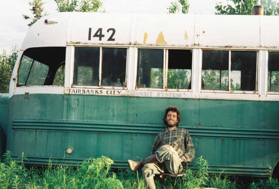 Chris Mccandless At The Into The Wild Bus