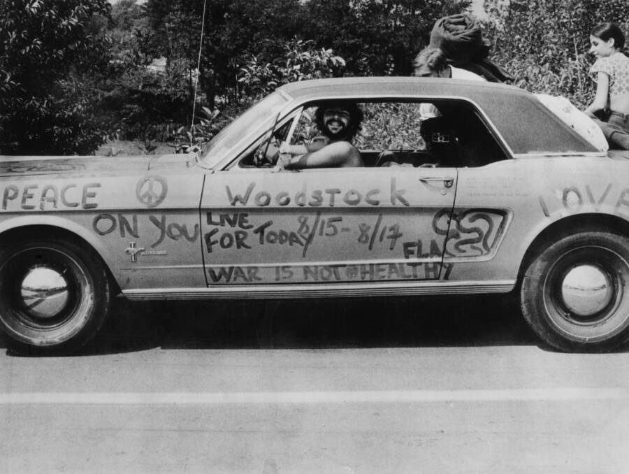 Car With Woodstock Written On It