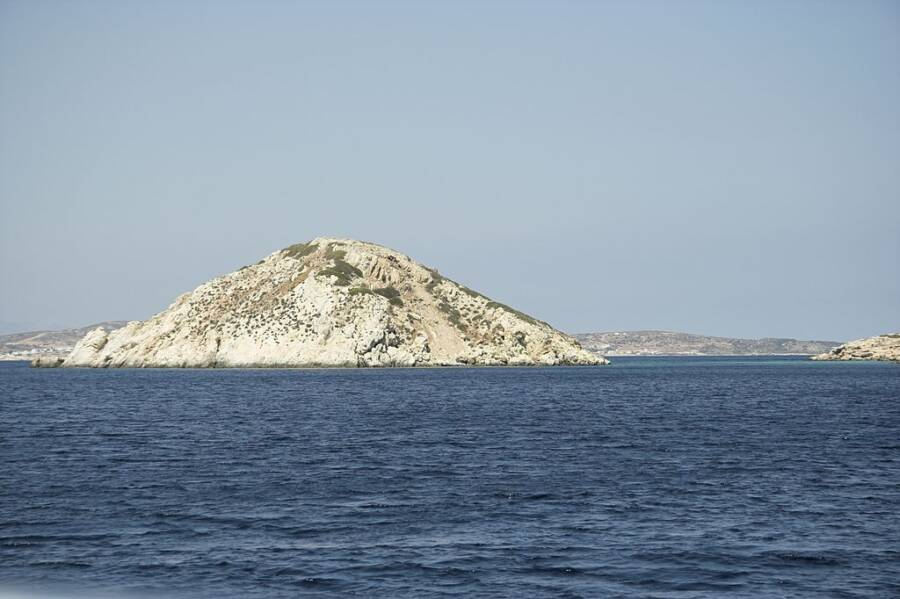 Dhaskalio Islet In Greece