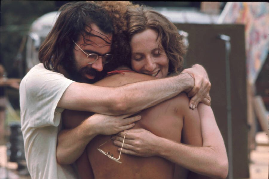 Group Hug At Woodstock