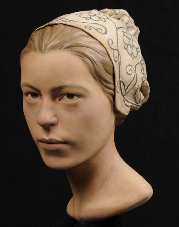 Reconstructed Face Of Jamestown Woman