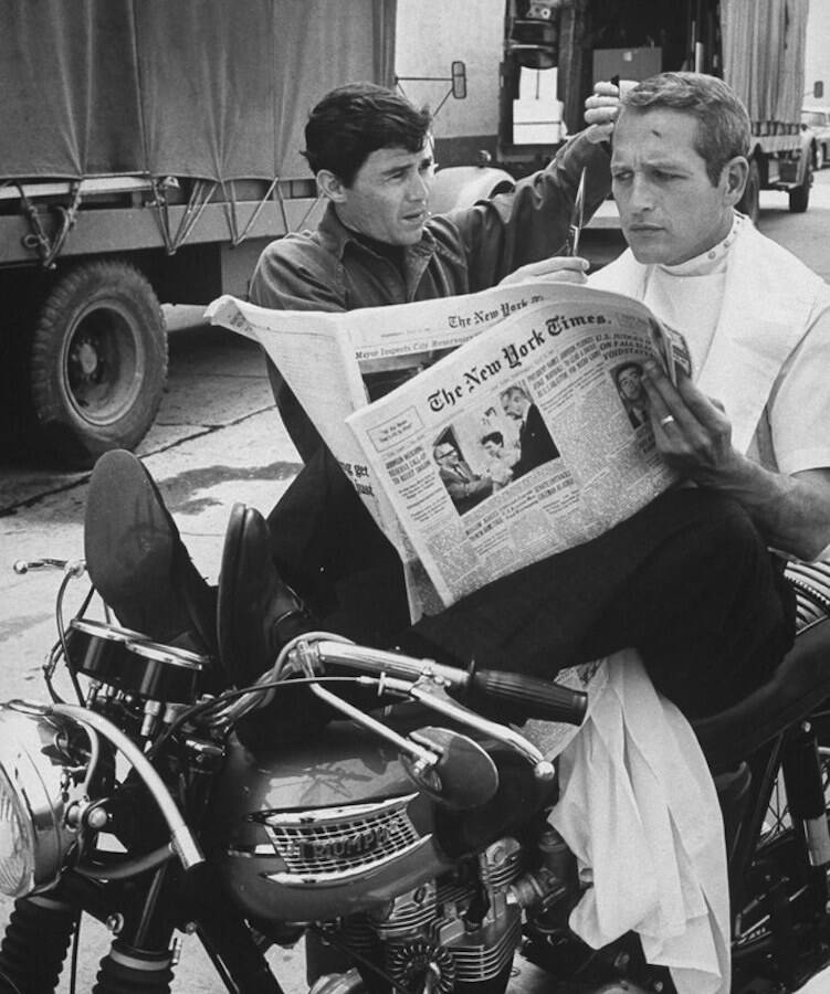 Jay Sebring And Paul Newman
