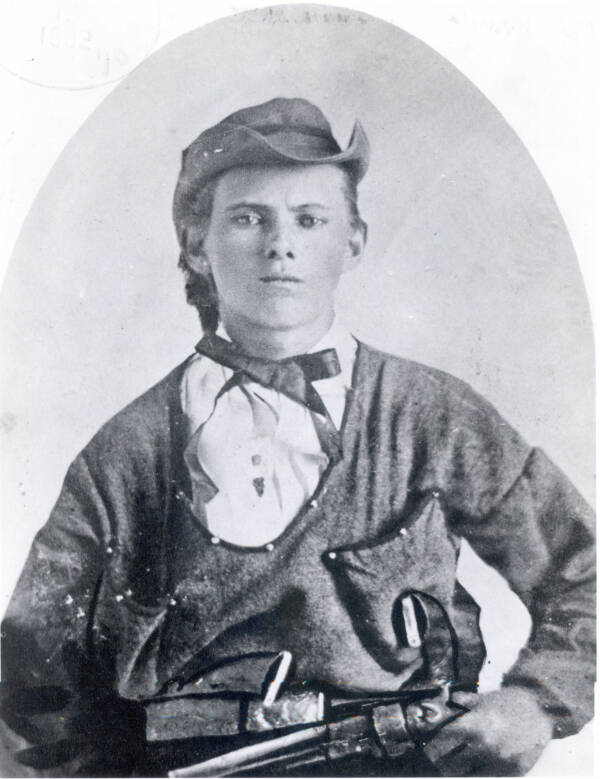 Young Jesse James With Gun