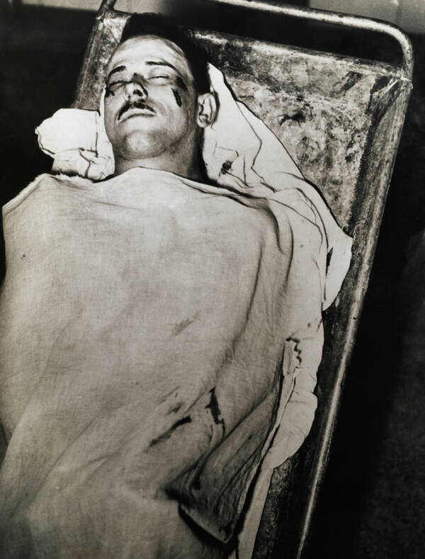John Dillinger In The Morgue After His Death