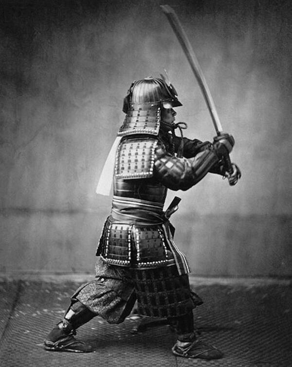 Jules Brunet In Samurai Regalia