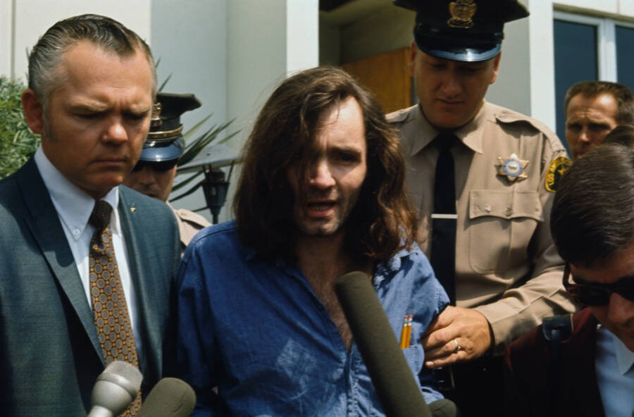 Manson In Police Custody