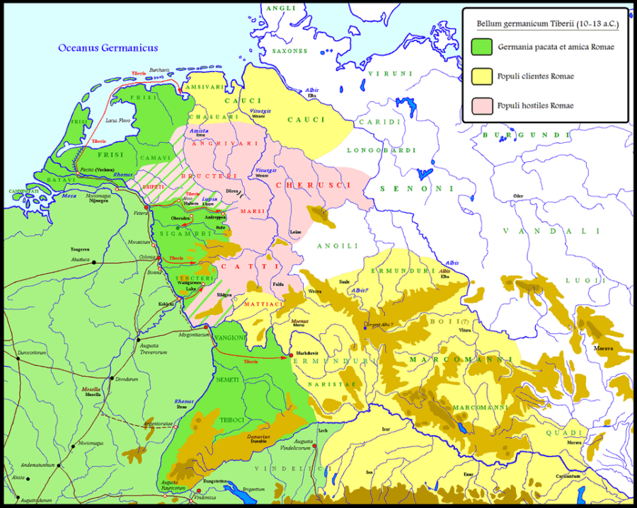 Map Of Early Roman Germany