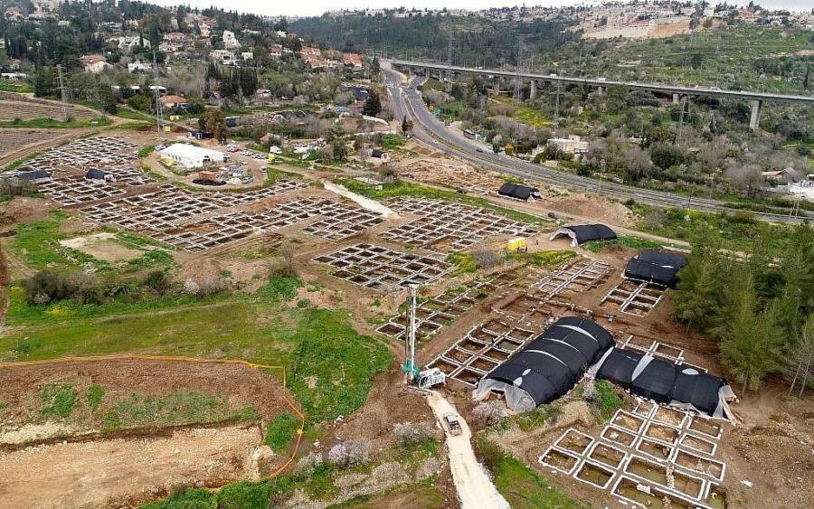 Motza Dig Site Aerial View