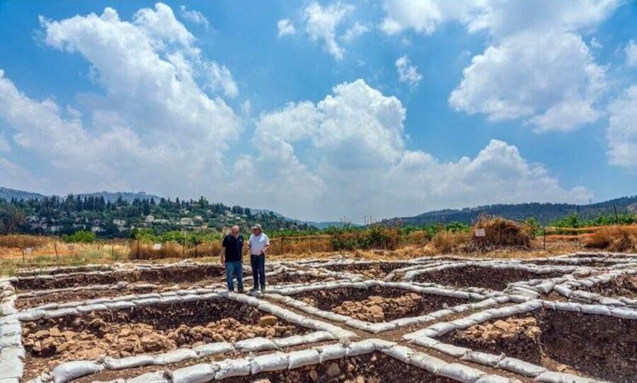 Motza Dig Site Foundations