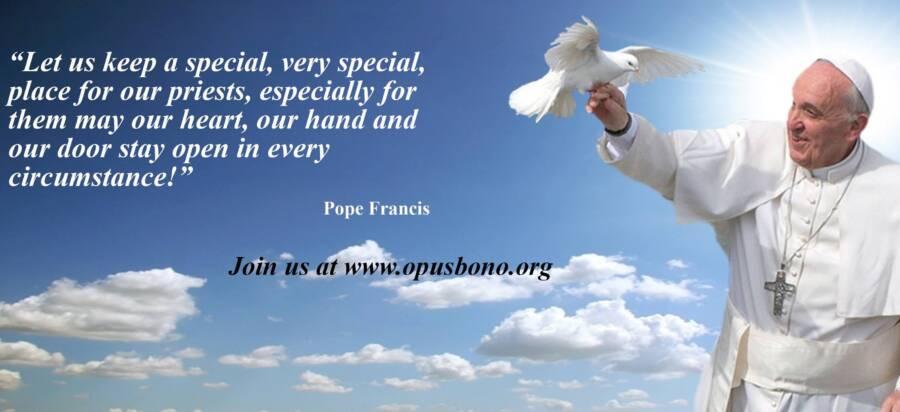 Opus Bono Sacerdotii Pope Quote