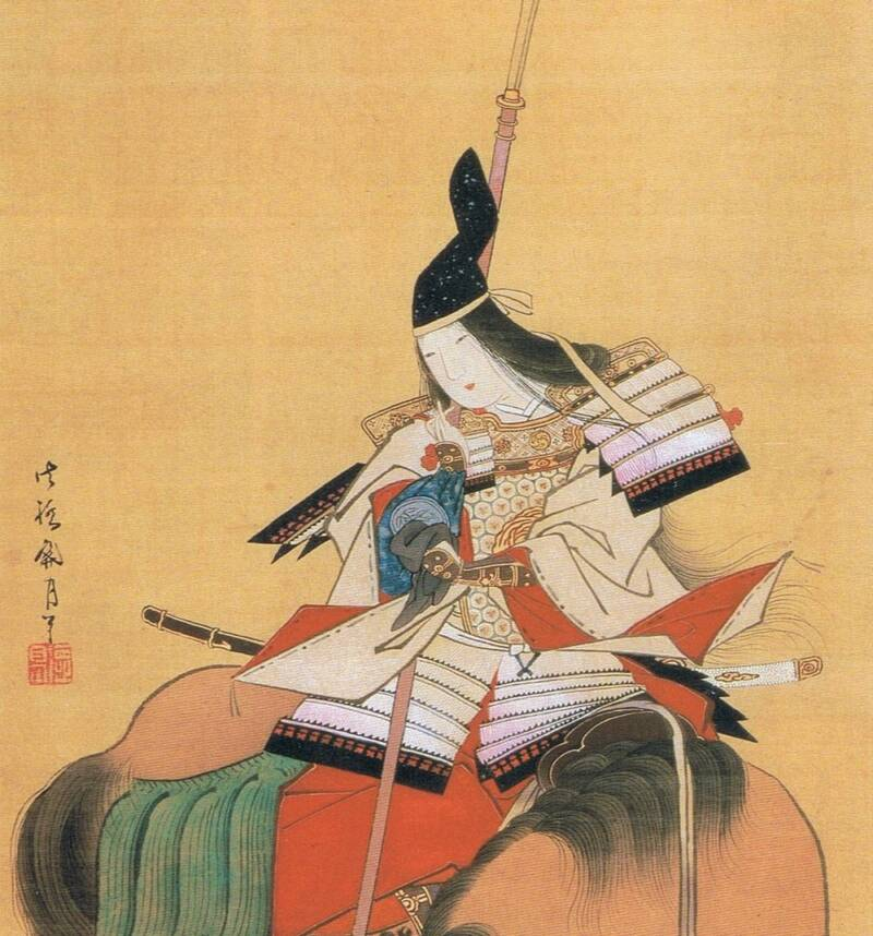 Painting Gozen On Horseback