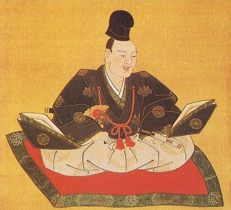 Painting Of Yoshinaka Cross Legged