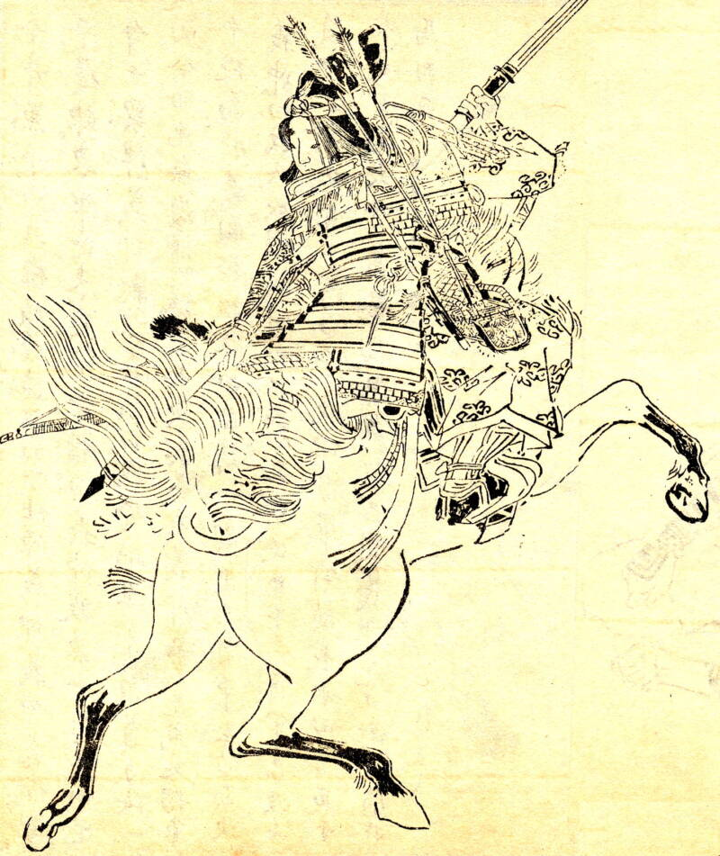 Print Tomoe Gozen Holding Sword