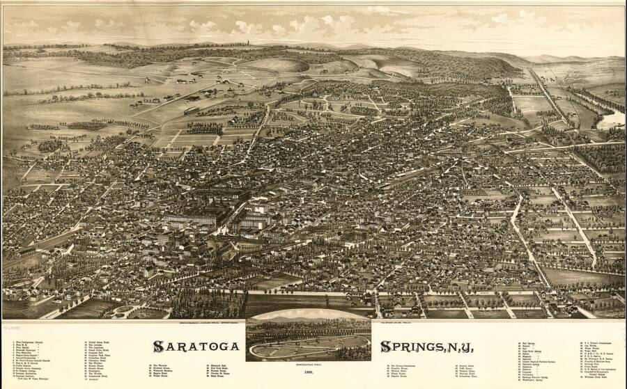 Map Of Saratoga Springs Where Rothstein Wed His Wife