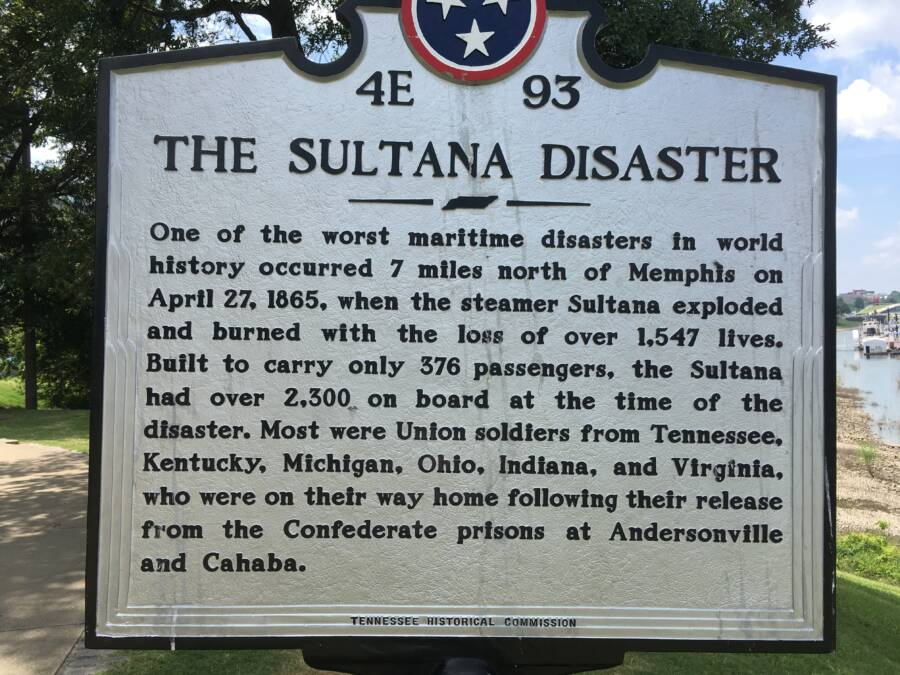 Sultana Disaster Plaque