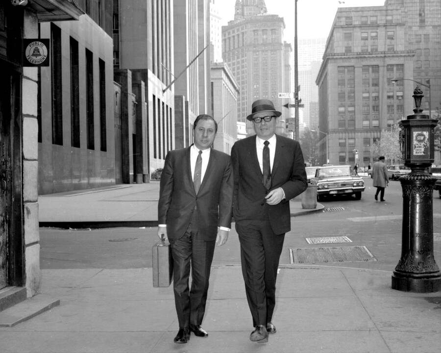 Trafficante And Ragano Walk Down Street