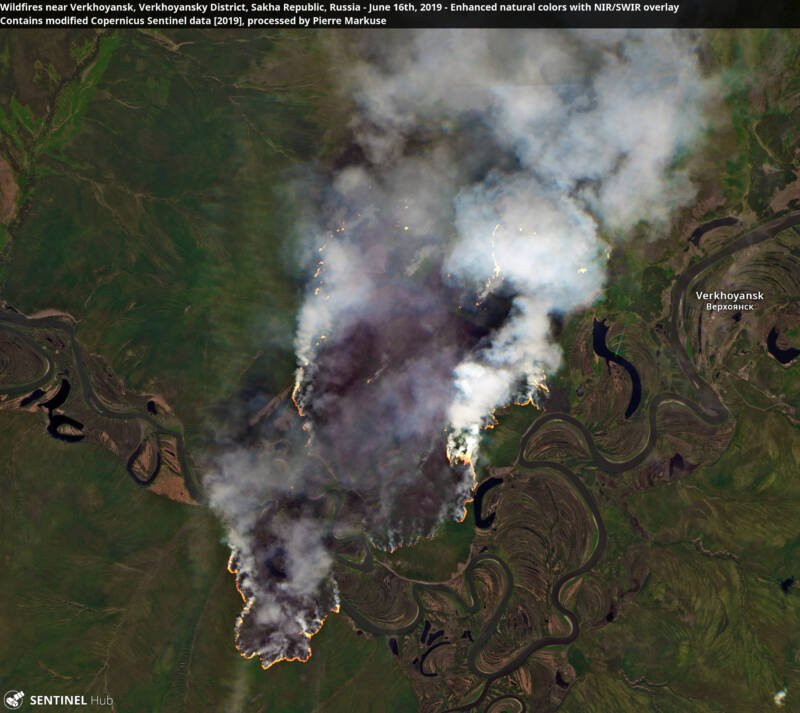 Verkhoyansk Wildfire Satellite Image