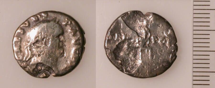 Vespasian Denarius Coin