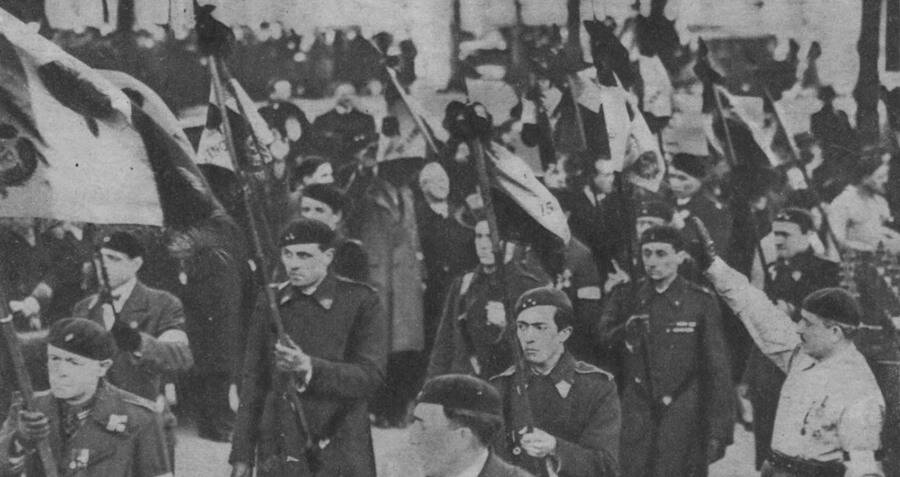 French Fascists Marching