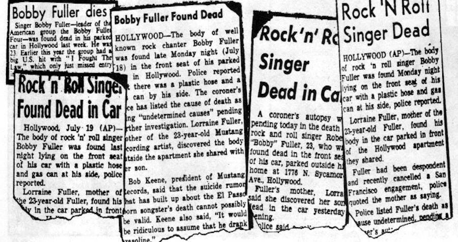 Fuller Death Headlines