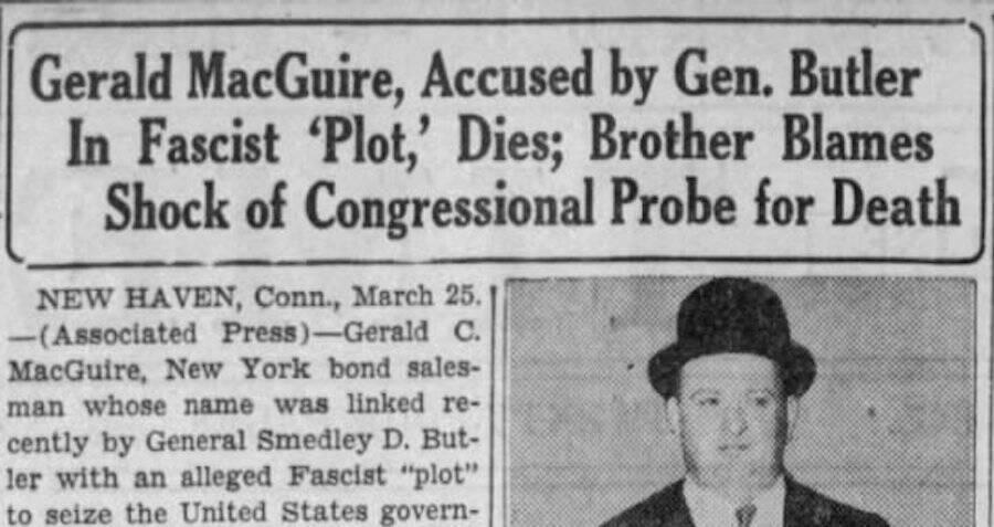 Gerald MacGuire's Death Announcement