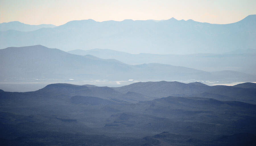 View Of Area 51 From Tikaboo Peak
