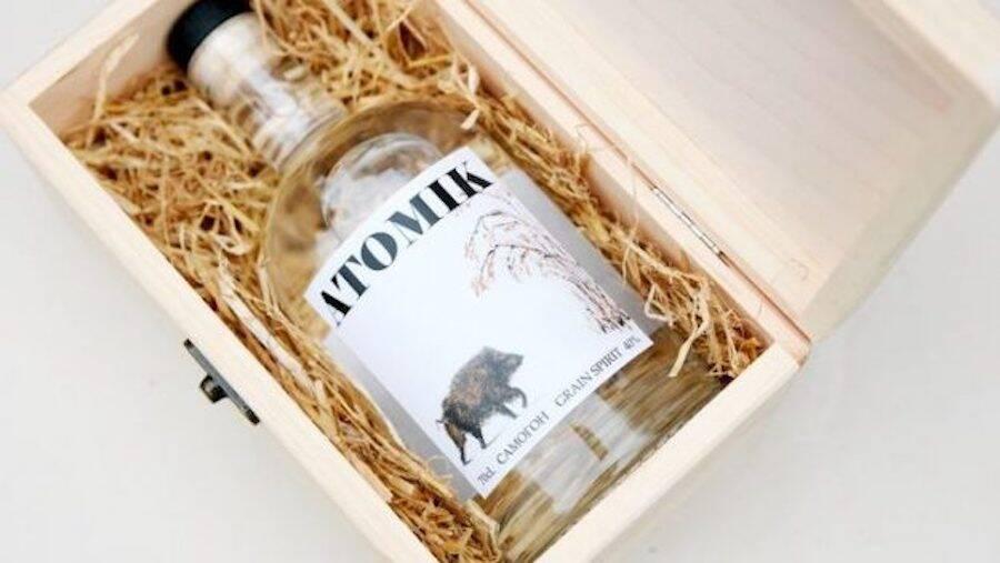 Atomik Vodka Bottle