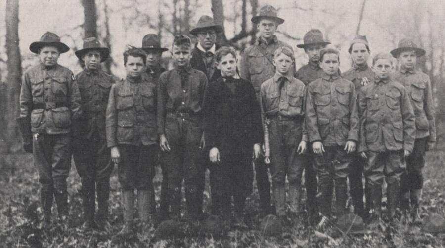 Boy Scout Troop In 1918