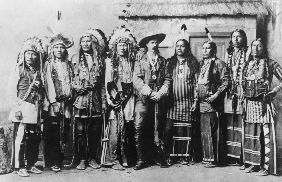 Cody And A Crew Of Native Americans