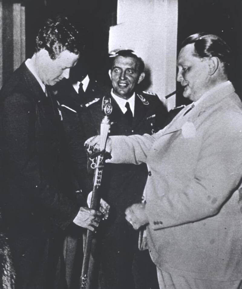 Charles Lindberg And Hermann Goering