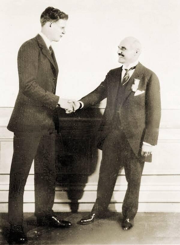 Charles Lindberg And Raymond Orteig