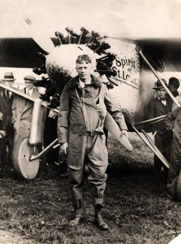 Charles Lindbergh After Landing In Paris