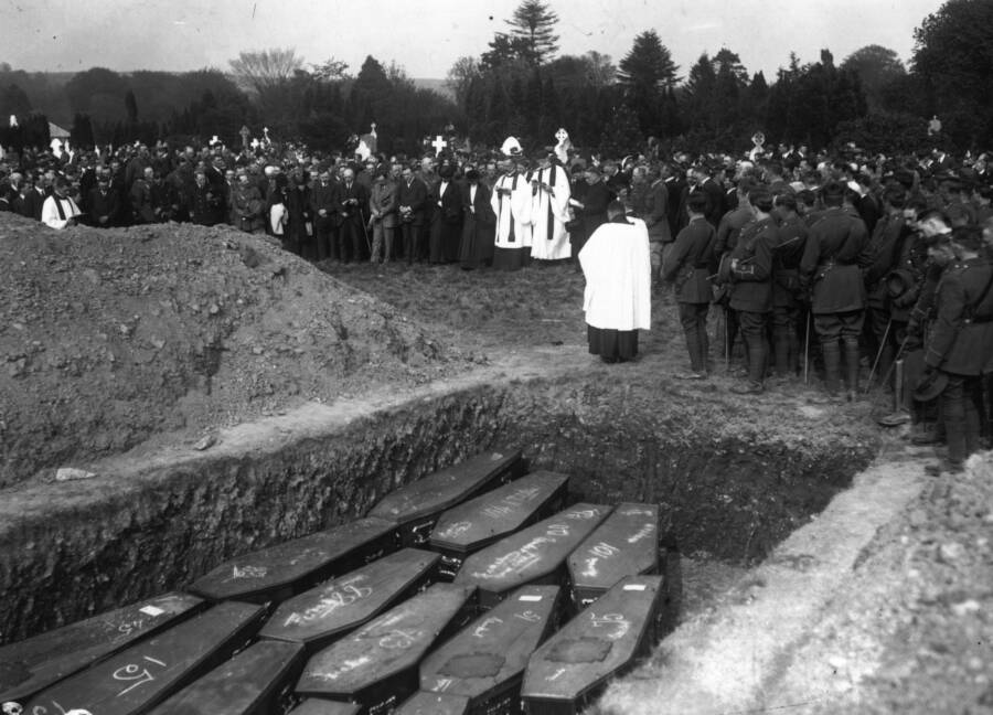 Funeral Service For RMS Lusitania Victims