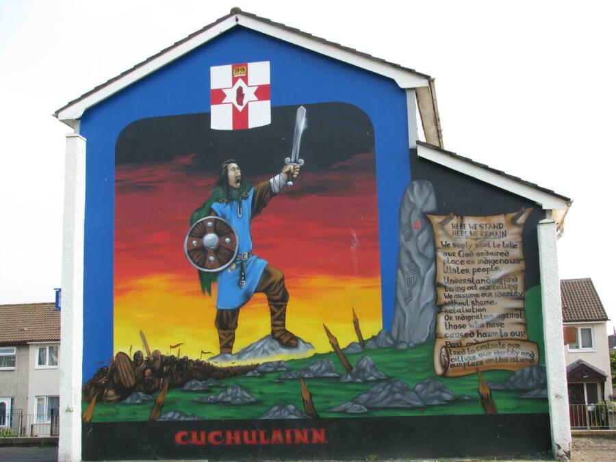 Cú Chulainn Mural