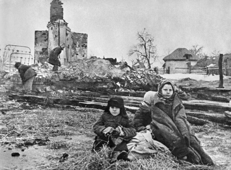 Destroyed Home In Kursk