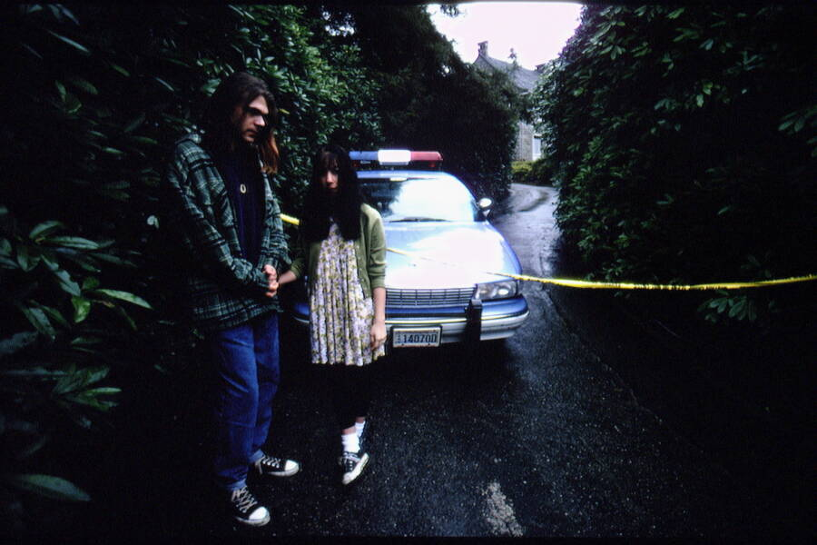 Fans Outside Of Kurt Cobain's House