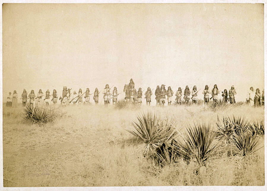 Geronimo And The Apache Before Their Surrender