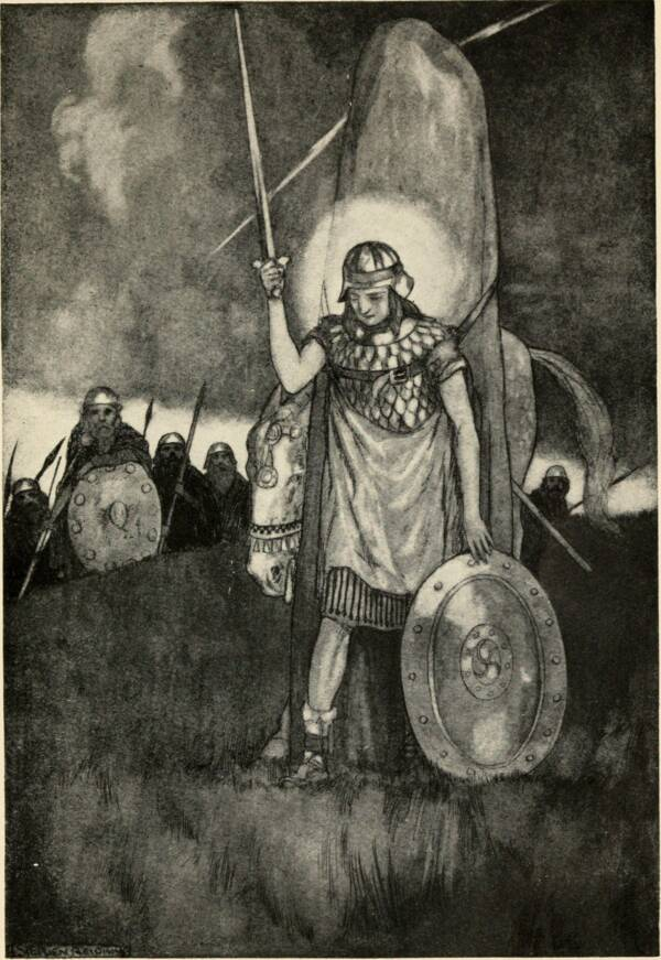 Illustration Of Cú Chulainn