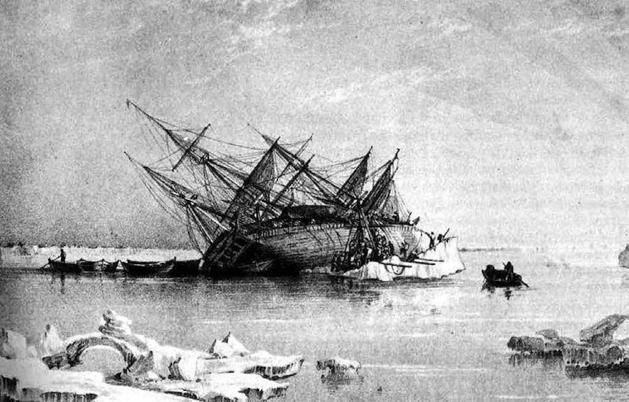 Illustration Of The HMS 'Terror'