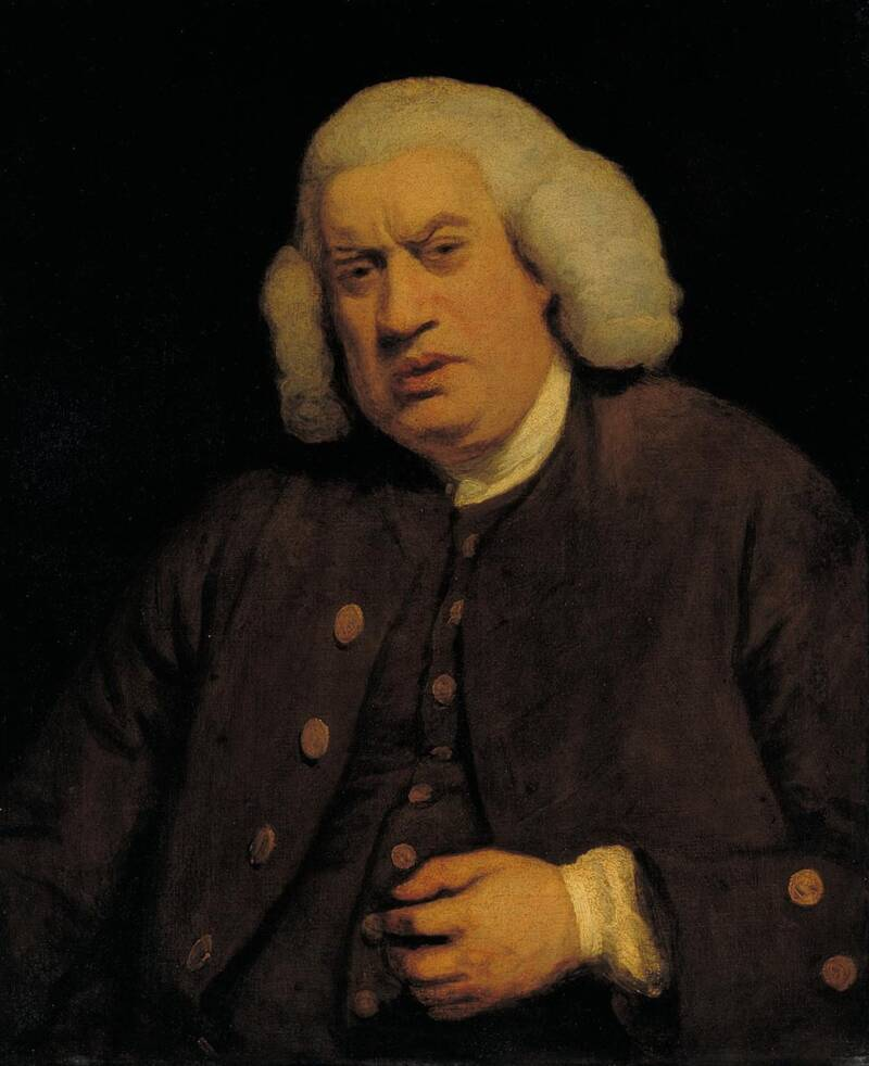 Joshua Reynolds Painting Of Samuel Johnson