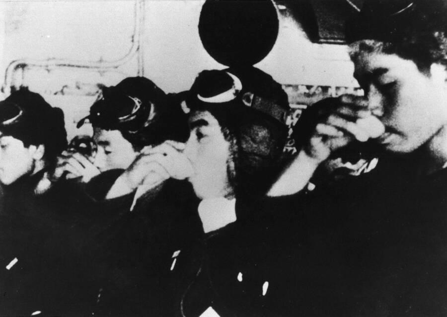 Kamikaze Pilots Drinking Sake