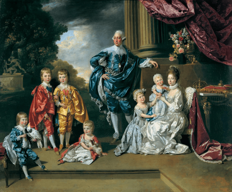 King George III And Queen Charlotte With Their Children